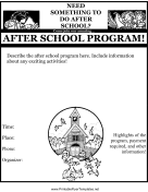 After School Program Flyer