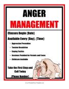 Anger Management Flyer