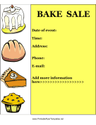 Bake Sale Flyer