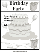 Birthday Party Flyer Cake