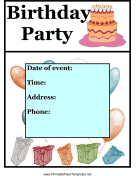 Birthday Party Flyer Color