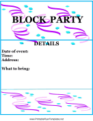 Block Party Flyer Color