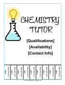 Chemistry Tutor Flyer