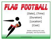 Flag Football Flyer