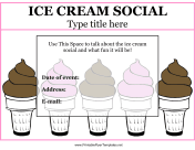 Flyer For Ice Cream Social
