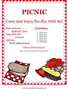Flyer For Picnic