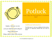 Flyer For Potluck