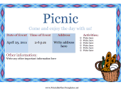 Flyer Template Picnic