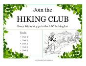 Hiking Club Flyer