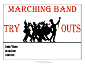 Marching Band Tryouts Flyer