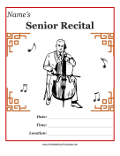 Senior Recital Flyer