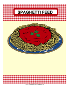 Spaghetti Feed Fundraiser Flyer