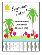 Summer Tutor Flyer