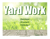 Yard Work Flyer