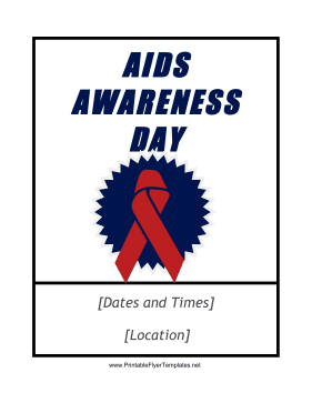 AIDS Awareness Flyer Printable Template