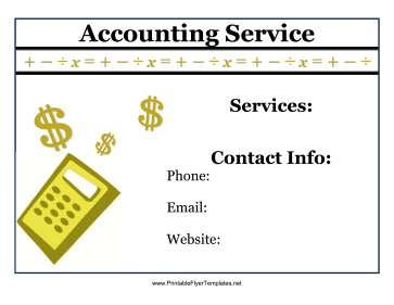 Accounting Service Flyer Printable Template