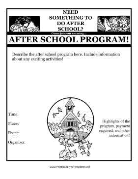 program pamphlet template