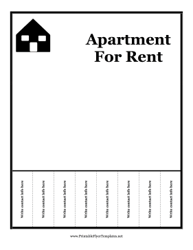 Apartment for rent flyer apartment for rent flyer printable template maxwellsz