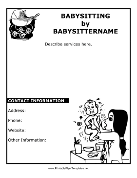 printable babysitting flyer template