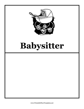 Baby sitting flyers for Babysitting poster template
