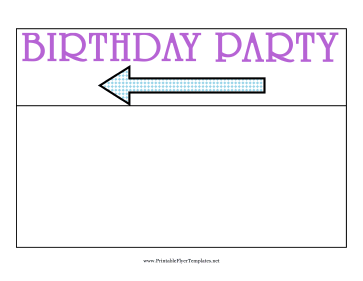 Birthday Party Flyer Left Printable Template