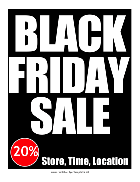 Black Friday Sale Flyer Printable Template