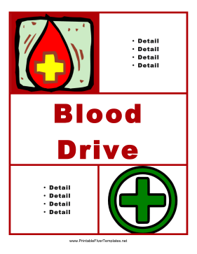 Blood Drive Flyer Printable Template