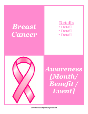Breast Cancer Flyer Printable Template