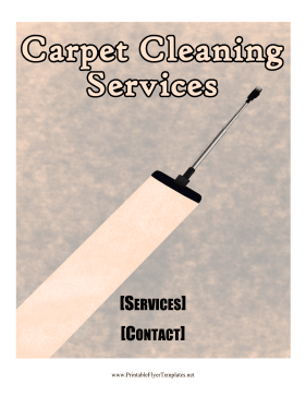 Carpet Cleaning Services Flyer Printable Template