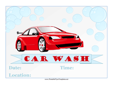 Car Wash Flyer Printable Template