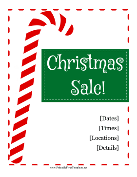 Christmas Sale Flyer Printable Template