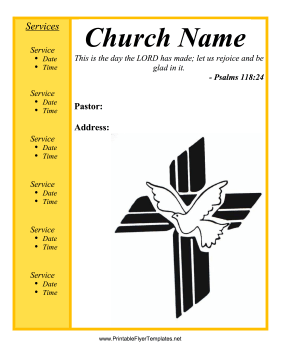 Church flyer for Free templates for church programs