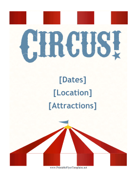 Circus Flyer Printable Template