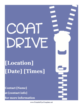 Coat Drive Flyer Printable Template