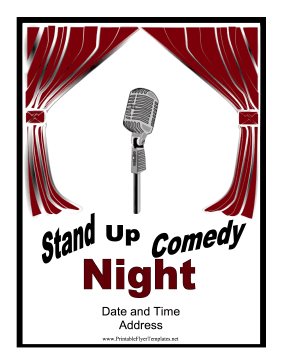 Comedy Flyer Printable Template