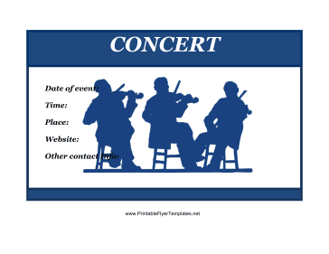 Concert Flyer Printable Template