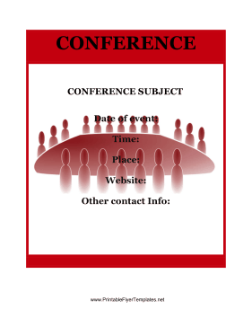 Conference Flyer Printable Template