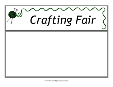 Crafting Fair Flyer Printable Template