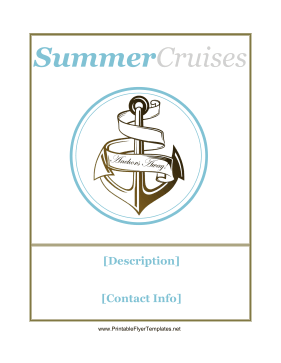 Cruise Flyer Printable Template