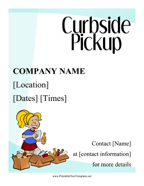 Curbside Pickup Flyer Printable Template