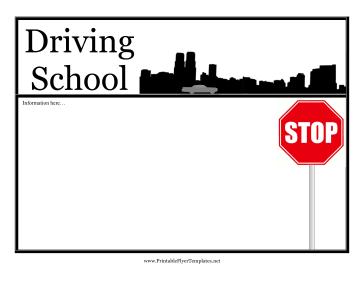 Driving School Flyer Printable Template