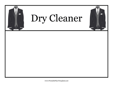 Dry Cleaner Flyer Printable Template