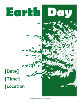 Earth Day Flyer Printable Template