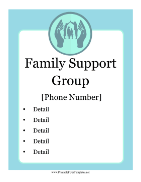 Family Support Flyer Printable Template