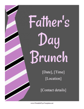 Fathers Day Brunch Flyer Printable Template
