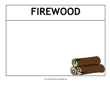 Firewood Flyer Printable Template