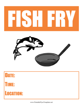 Fish Fry Flyer Printable Template