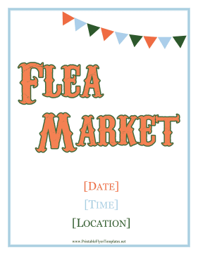 Flea Market Flyer Printable Template