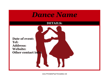 Flyer For Dance Printable Template
