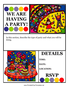 Flyer For Party Printable Template